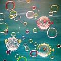 Puffer Fish Bubbles by Karen Jane Jones
