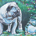 Pug Fawn With Frog by Lee Ann Shepard