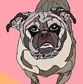 Pug In Digi by Ania M Milo
