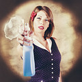 Pump Action Pin Up Woman Killing Glass Grime by Jorgo Photography - Wall Art Gallery