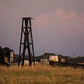 Pump Jack Golden Hour by Deborah Reinhardt - Adams