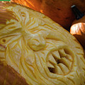Pumpkin Carving Angry Face by Randy J Heath