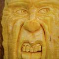 Pumpkin Faces  Argghh by Randy J Heath