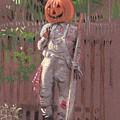 Pumpkin Scarecrow by Donald Maier