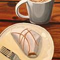 Pumpkin Scone And Pumpkin Latte by Lauren Ullrich