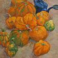 Pumpkins And Watering Can by Vitali Komarov
