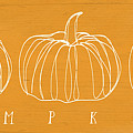 Pumpkins- Art by Linda Woods by Linda Woods