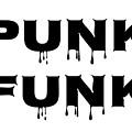 Punk Funk - Black On White Background by LogCabinCottage