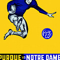 Purdue V Notre Dame 1947 Program by John Farr