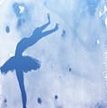 Purple Ballerina Silhouette by Anna Michon