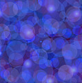 Purple And Blue Abstract by Frank Tschakert