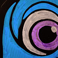 Purple And Blue Eyeball In Saint Augustine Florida by Travel Back And Forth