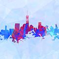 Purple And Blue New York Skyline by Alex Antoine