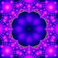 Purple And Pink Glow Fractal by Tracey Everington