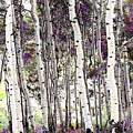 Purple Aspens by LeAnne Perry