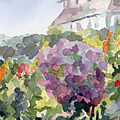 Purple Blossoms Monets Garden Watercolor Paintings Of France by Beverly Brown