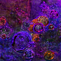 Purple Bubbles Painting by Don  Wright