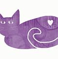 Purple Cat- Art By Linda Woods by Linda Woods