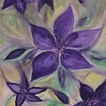 Purple Clematis Abstract by Maria Urso