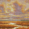 Purple Clouds On Marsh by Guy Crittenden