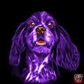 Purple Cocker Spaniel Pop Art - 8249 - Bb by James Ahn