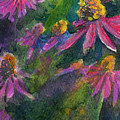 Purple Cone Flowers Outside Beye School by Joseph Abboreno