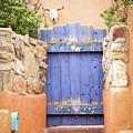 Pretty Purple Door In Santa Fe by Sabrina L Ryan