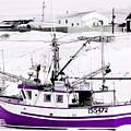 Purple Fishing Boat by Suzan Roberts-Skeats
