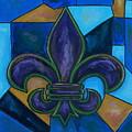Purple Fleur De Lis by Patti Schermerhorn