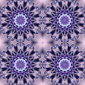 Purple Floral Fractal 4up by Ruth Moratz