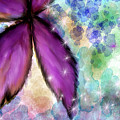 Purple Flower Watercolor Doodle by Susan Kinney