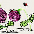 Purple  Flowers Grow by Debbi Saccomanno Chan