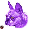 Purple French Bulldog Pop Art - 0755 Wb by James Ahn