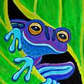 Purple Frog Peeking Through by Nick Gustafson