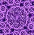 Purple Geek Kaleidoscope Five by Morgan Carter