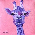 Purple Giraffe by Barbara O'Toole
