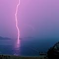 Purple Glow Of Lightning by Judi Mowlem