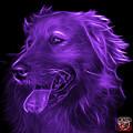 Purple Golden Retriever - 4057 Bb by James Ahn