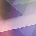 Purple Gradient Polygon - 2212 by Jovemini ART