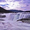 Purple Haze Waterfall by Lj Lambert