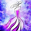 Purple Lady Charm by Irina Sztukowski
