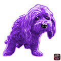 Purple Lhasa Apso Pop Art - 5331 - Wb by James Ahn