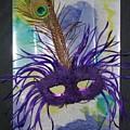 Purple Mask On Tie Dye  by Rosanne Licciardi