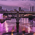 Purple Minneapolis For Prince by Joe Mamer