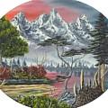 Purple Mountain Lake by Joshua Bales