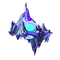 Purple Mountain Shapes - 46 by Jovemini ART