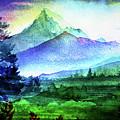 Purple Mountains Majesty by Digital Art Cafe