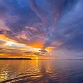 Purple Orange Dream Sunset by Ronald Kotinsky