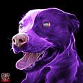 Purple Pit Bull Fractal Pop Art - 7773 - F - Bb by James Ahn