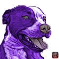 Purple Pit Bull Fractal Pop Art - 7773 - F - Wb by James Ahn